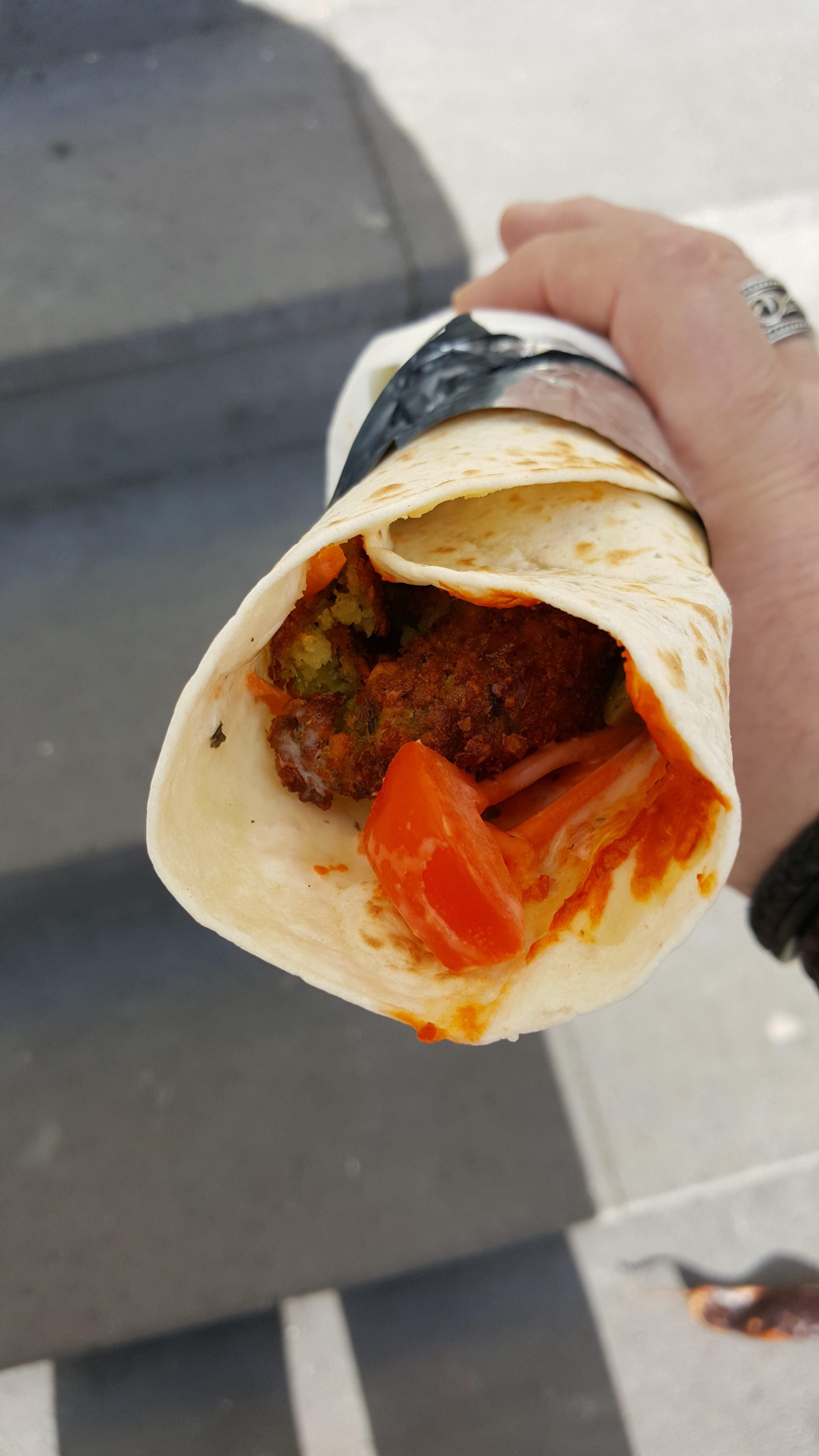 Chili Falafel Wrap