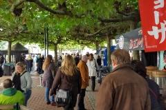 Fast der gesamte Street Food Markt findet unter Bäumen statt